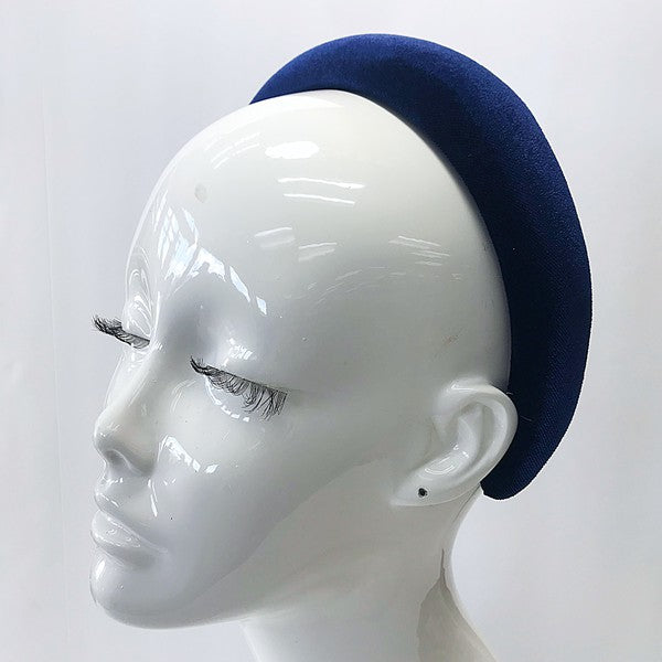 Navy Blue Velvet Headband