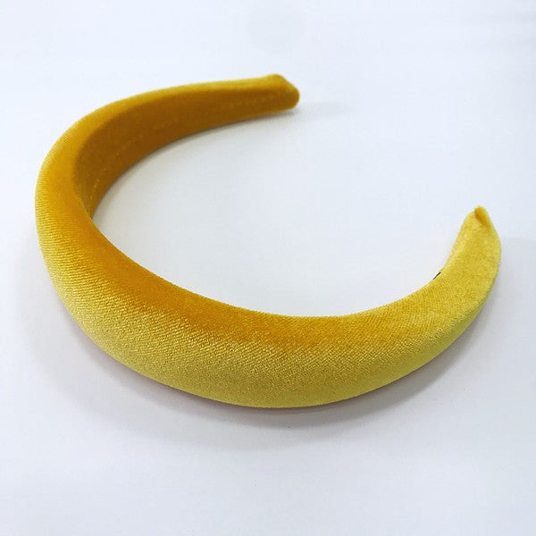 Mustard Yellow Velvet Headband