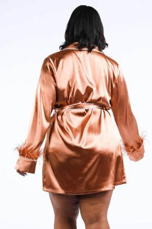 Boujee Mama Copper Wrap Blazer