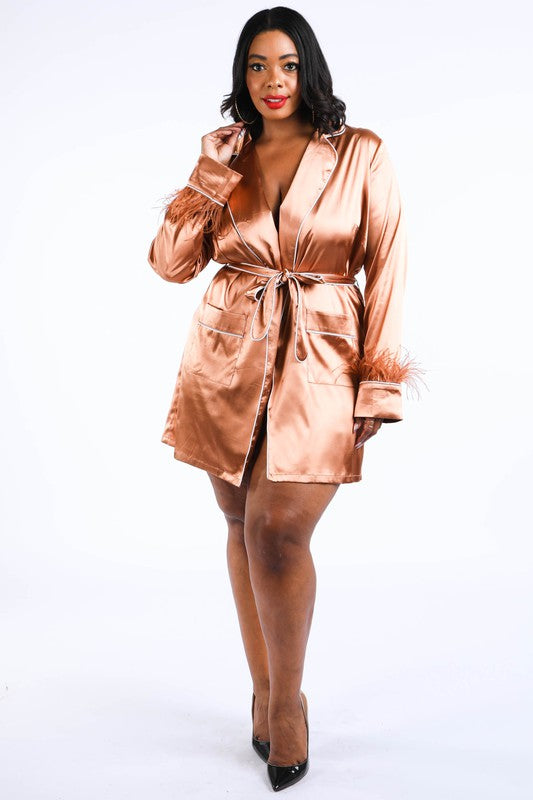 Copper Wrap Blazer- Plus