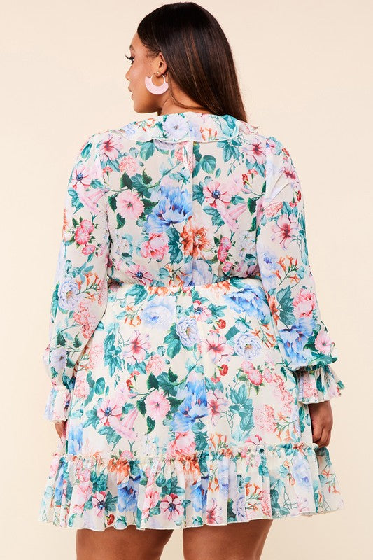 Spring Flower Dress Plus