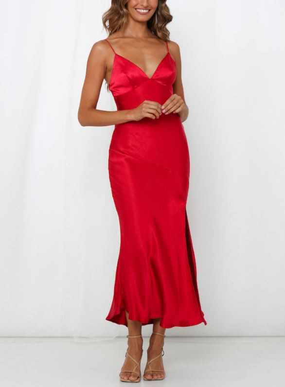 Chantel Satin Midi