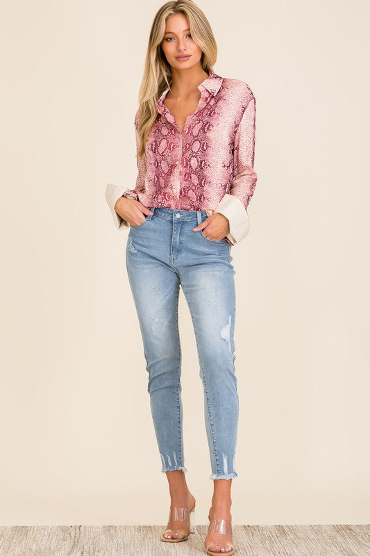 Nina Button-Down Blouse