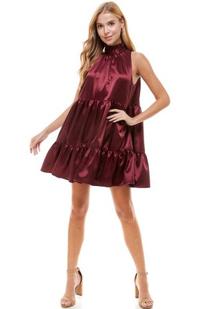 Cici Smock Satin Dress