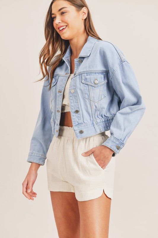 Charli Denim Cropped Jacket
