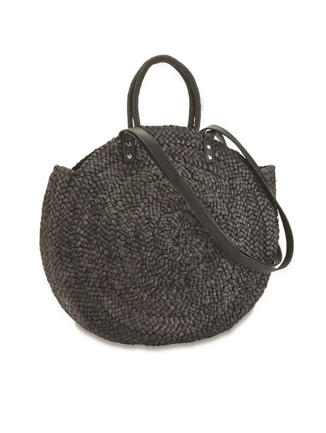 Woven Circle Straw Tote