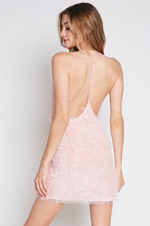 Baby Pink Feather T-Back Mini