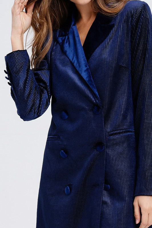 Power Up Velvet Blazer Dress