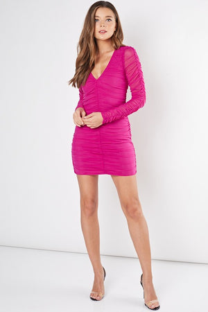 Pink Peacock Mini Dress