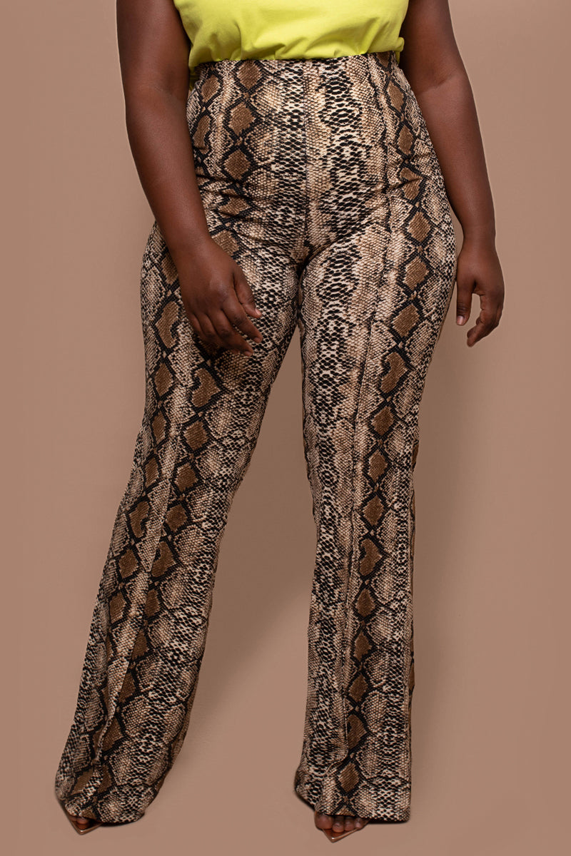 Restocked- Snake-Print Trousers