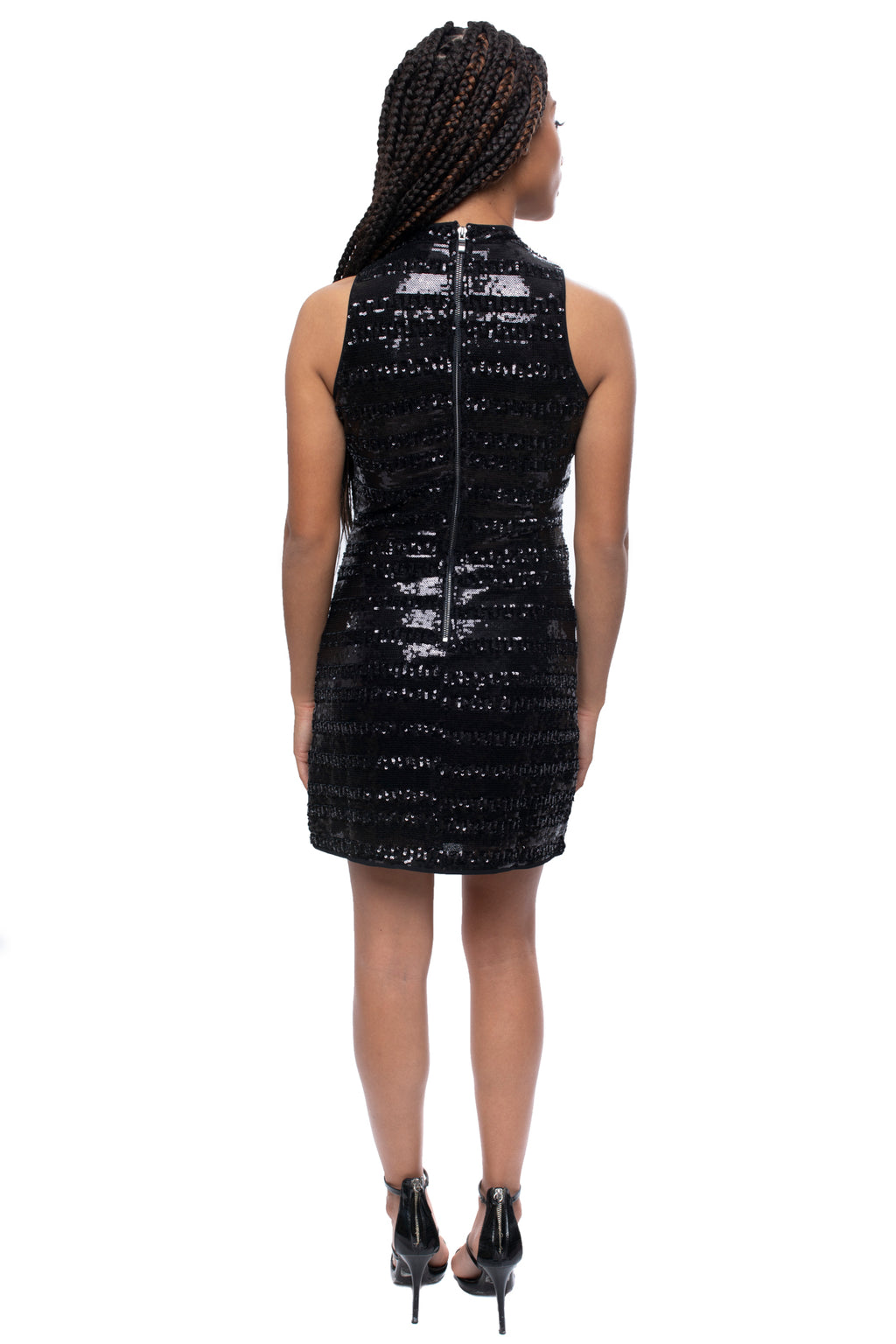 Black Sequin Bodycon Mini