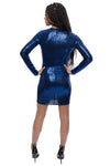 Meet Me At Midnight Blue Sequin Mini