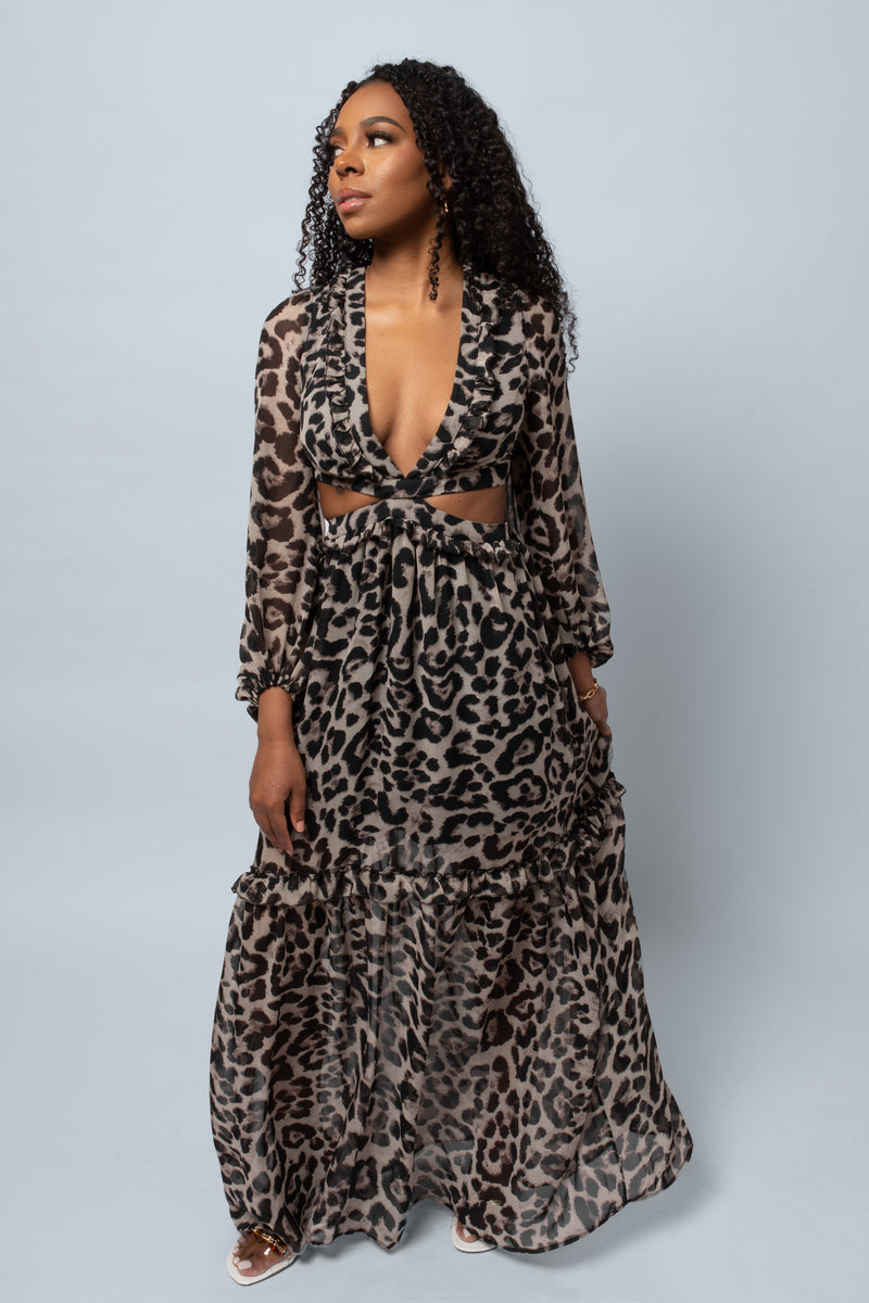 Willow Leopard Maxi Dress