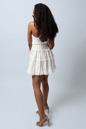 Rakia Criss-Cross Back Skater Dress