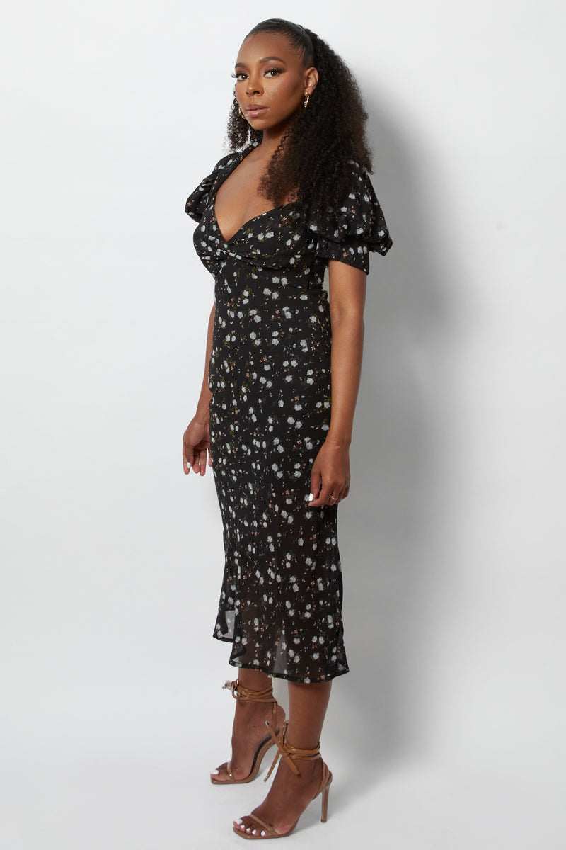 Amelia Sweetheart Midi Dress
