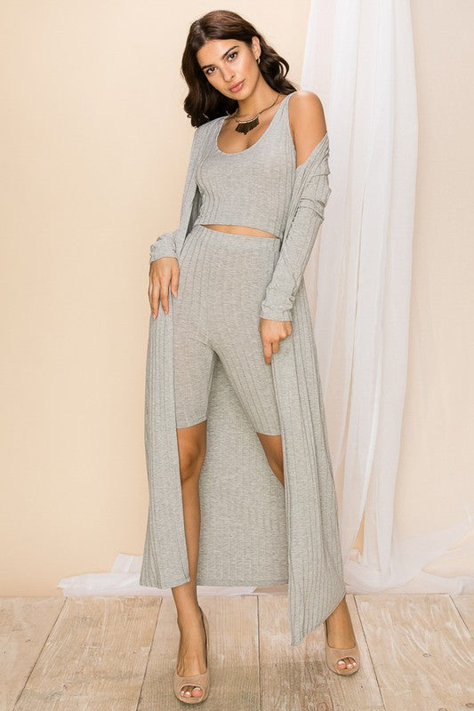 Knit It Off 3 Piece Lounge Set