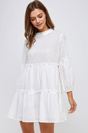 Lena Smocked Mini Dress