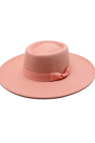 Coral Boaters Hat