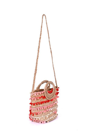 Handwoven Fiesta Embellished Tote - Medium