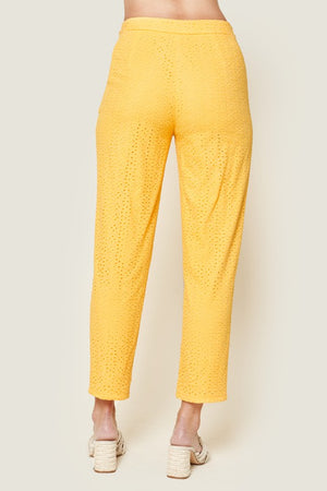 Morning Glory Eyelet Cropped Trouser Pants