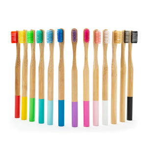 Brosses à Dents en Bambou Colorées - Brosses à Dents Bambou