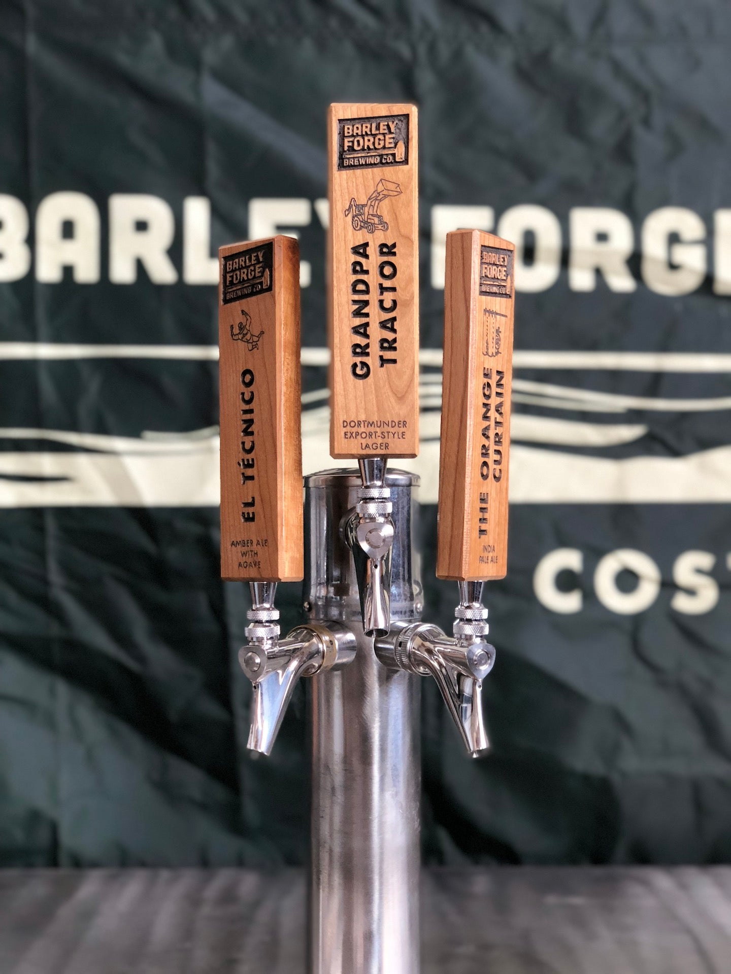 Cherry Wood Tap Handles – Barley Forge Brewing Co