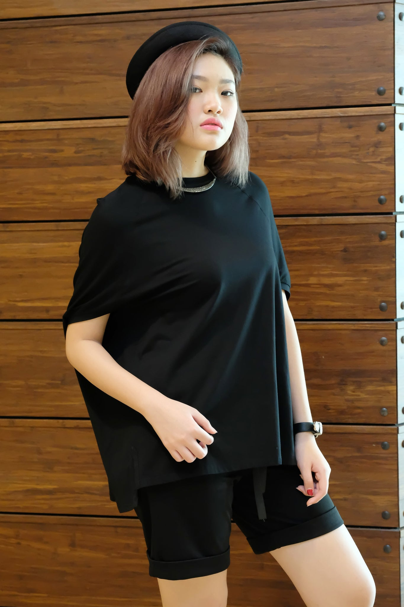 Plain Bat Sleeve Tee
