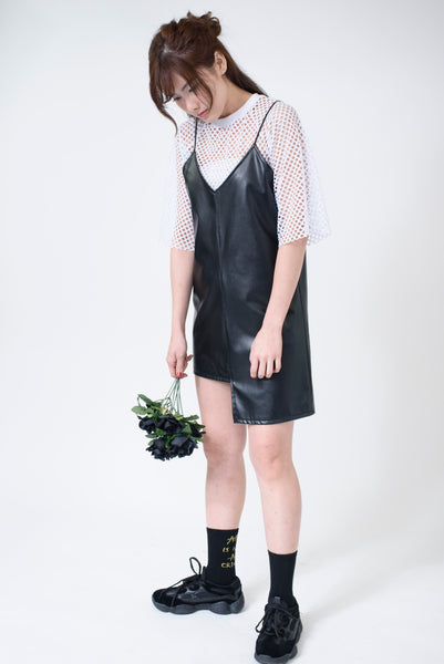 Cropped Fish Net Top