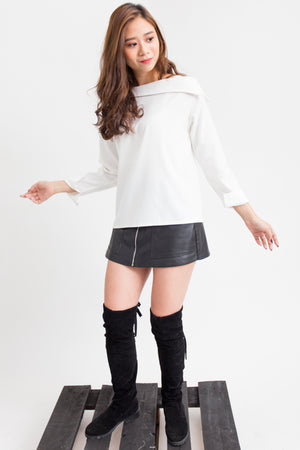 Boat Cut Plain Blouse