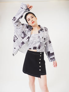 Magazine Printed Tube Top + Outer Piece