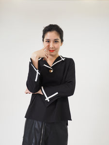 Salior Trimmed Collar Top