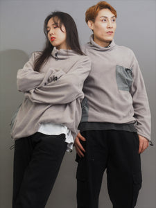 High-Necked Multi Pockets Pullover