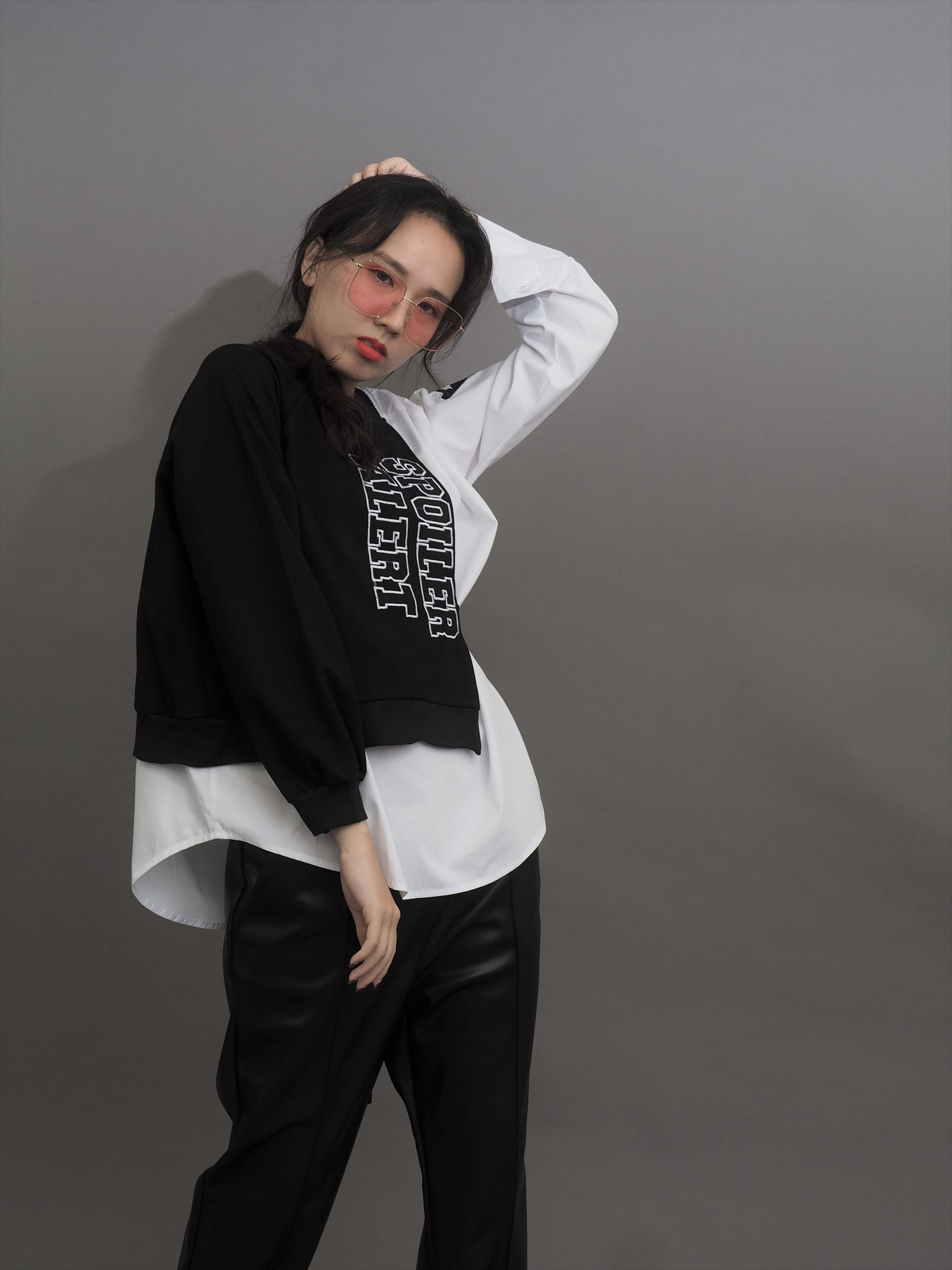 Harajuku Layer Stitched Long Sleeve Top