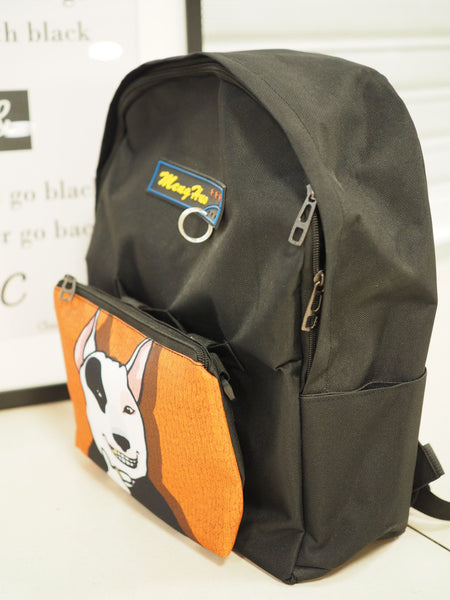 2 in 1 Orange Black Chic Backpack