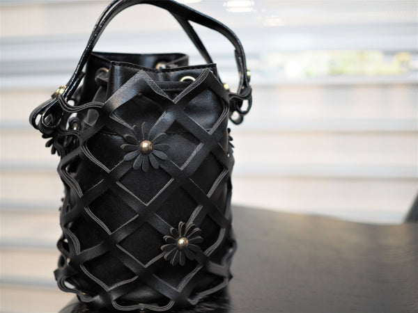 Flora Weaved Cone Bucket Bag