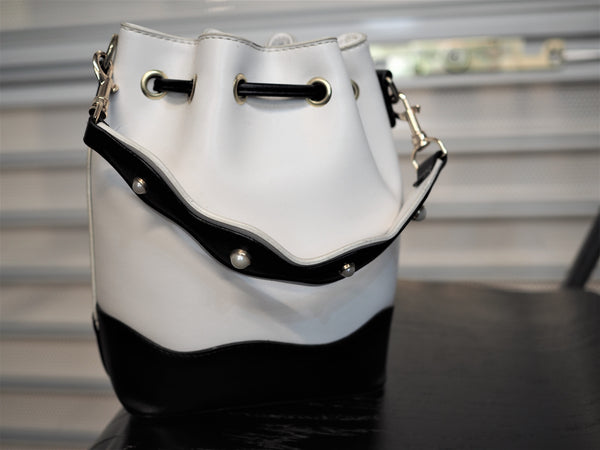 Mini Classic Black and White Bucket Bag