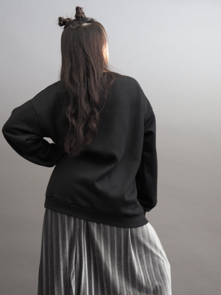 Graphitic Chic Oversize Pullover