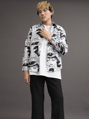 Comic Trendy Korean Style Shirt
