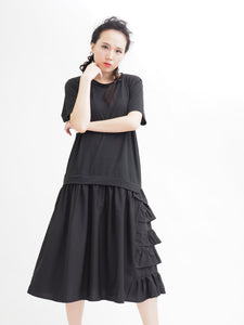 Ruffle 2 Layer Tee Dress