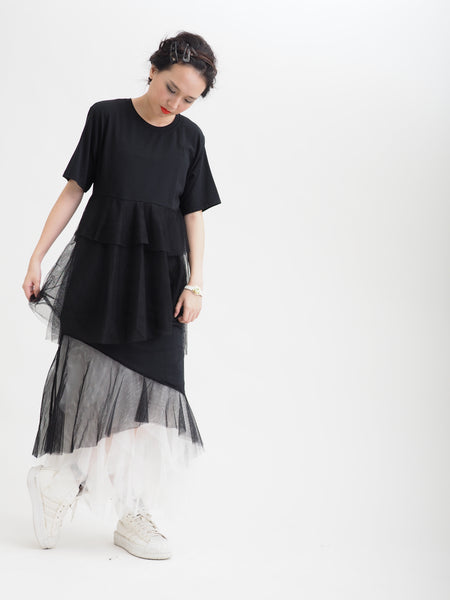 Layered x Chiffon Tee Dress
