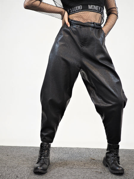 PU Baggy Stylish Leather Pants