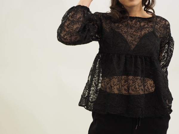 Dolly Cropped Lacey Top