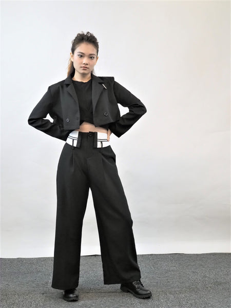 Korean Suit Black Two-Pieces