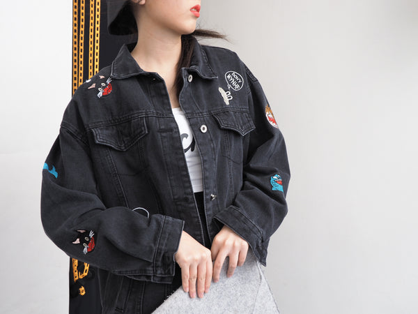 Graphical Denim Jacket