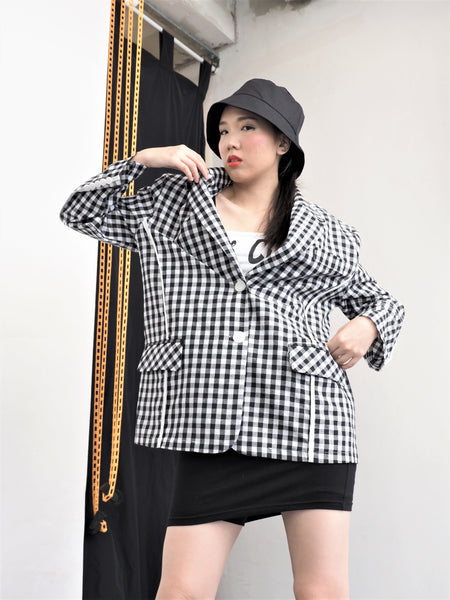 Chic Checkers Blazer