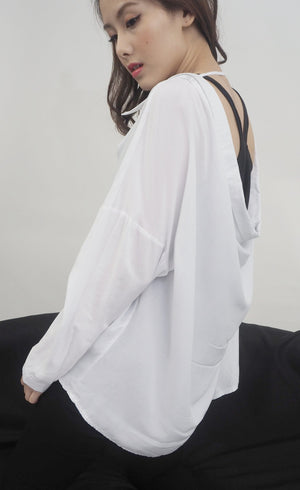 U Back Oversized Blouse