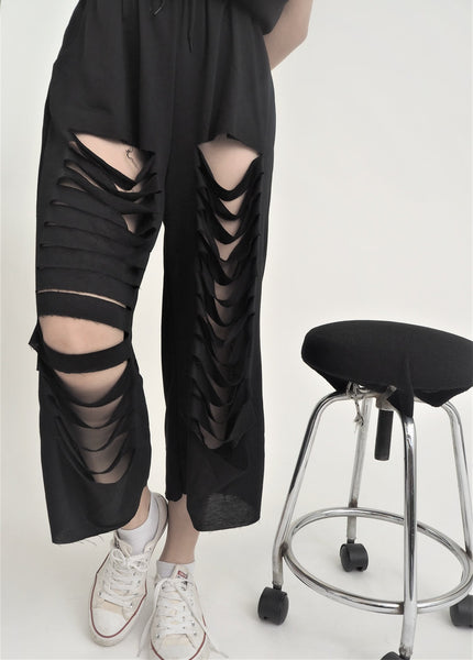 Korean Style Ripped Pants
