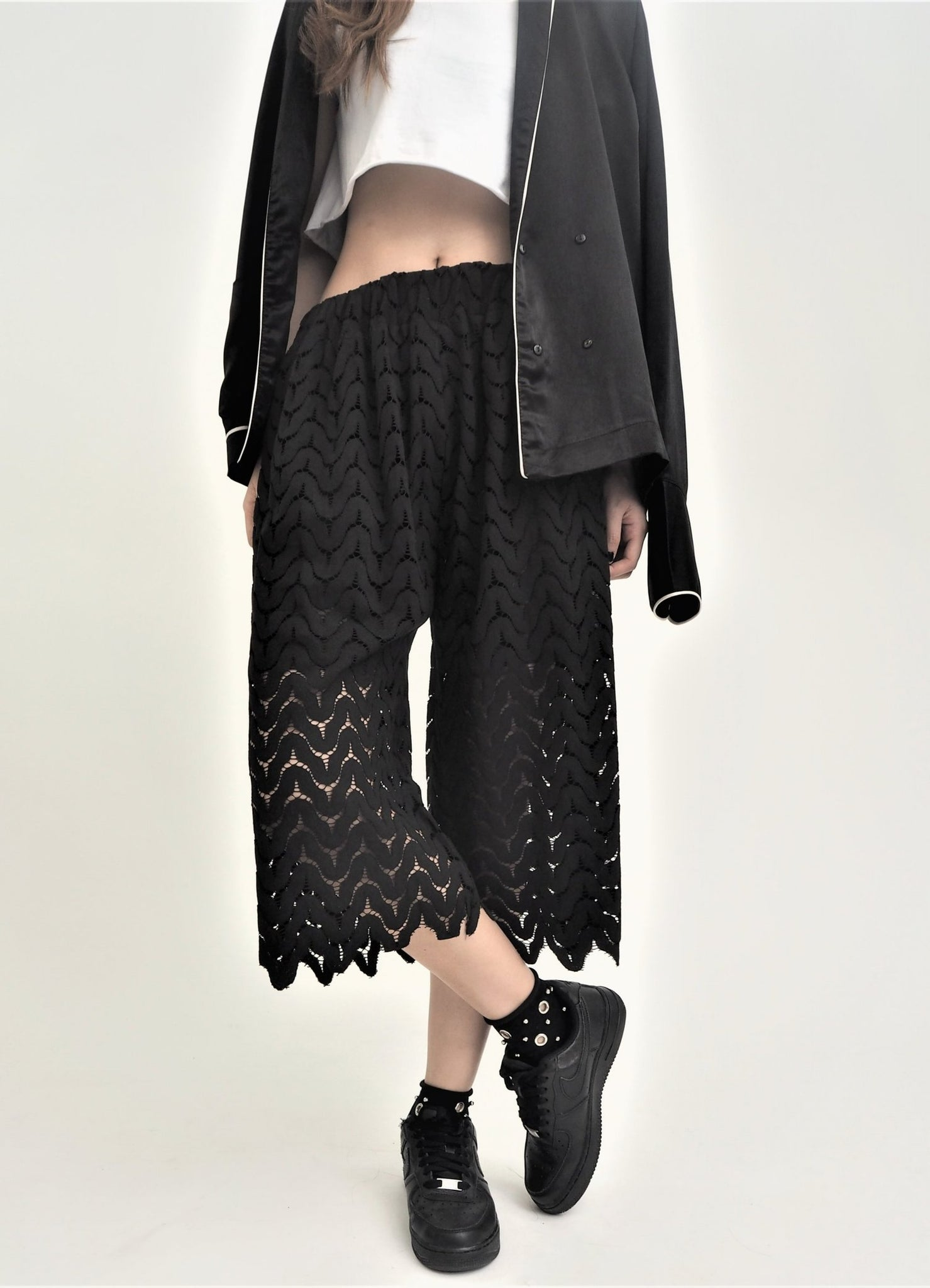 Lace Wide Leg Pants