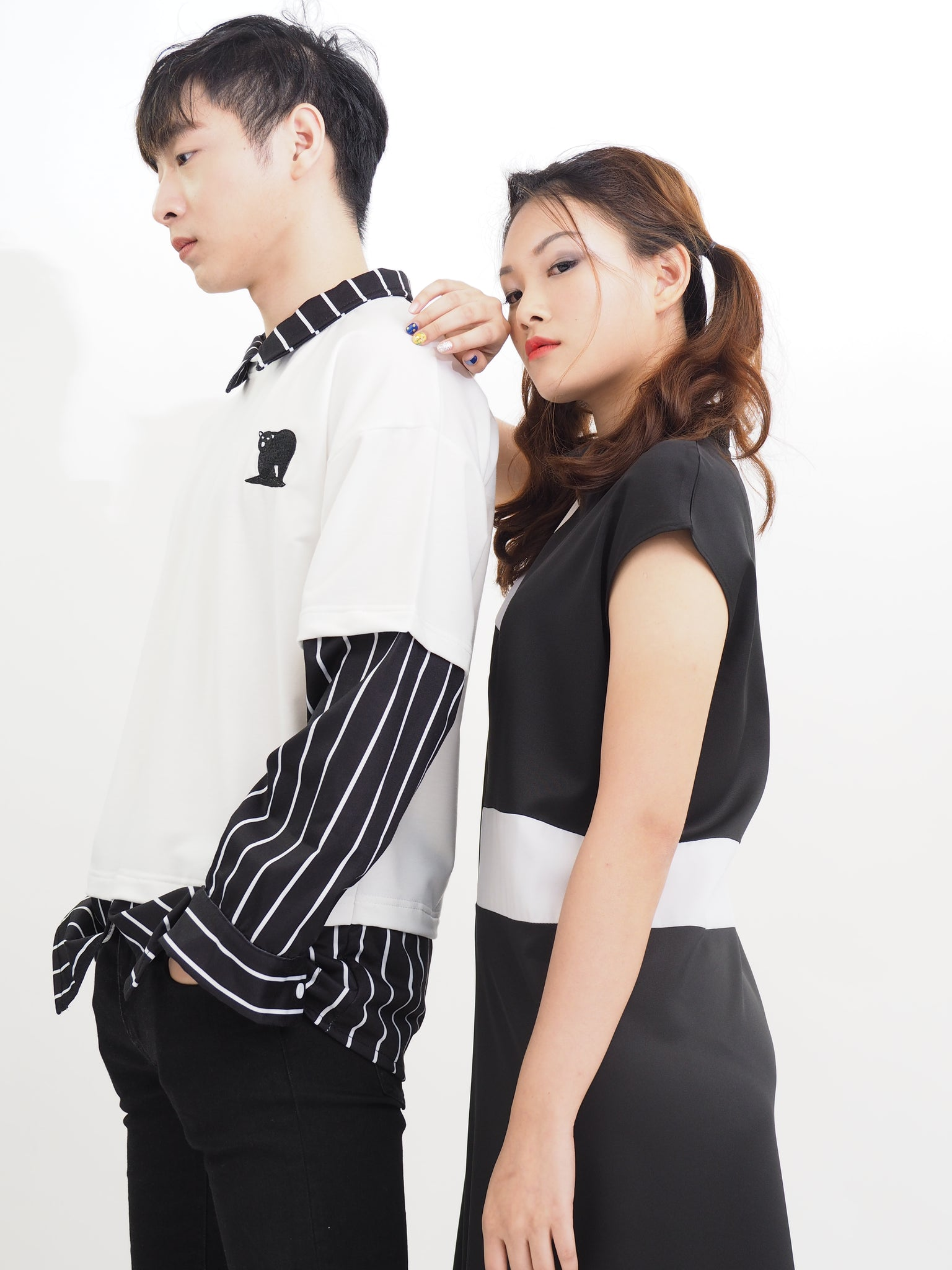 Jap Styled Two Piece Tee