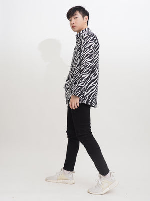 Boyfriend Printed Long Blouse